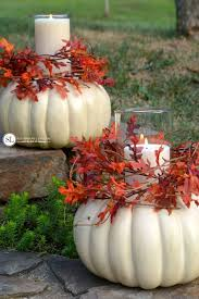 craft pumpkin candle holders centerpieces thanksgiving and craft