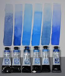 Blue Paint Swatches Daniel Smith Watercolors Watercolor Techniques Pinterest