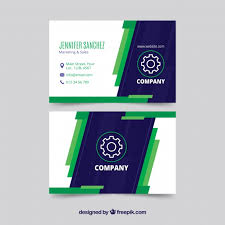 modern blue and green business card template vector free download