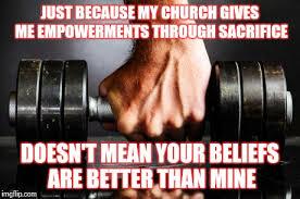 Church Meme Generator - the gym is my church imgflip