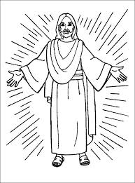 jesus coloring faith jesus christ blesses
