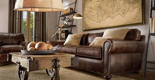 Trendy Traditional Living Room Ideas With Leather Sofas Brown - Interior designs for living room with brown furniture