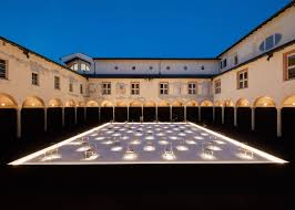 50 chairs nendo presents 50 manga chairs in milan palazzo courtyard