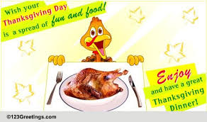 a great thanksgiving dinner free dinner ecards greeting cards