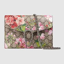 bloom purse dionysus blooms print mini chain bag gucci 401231ku2an8693