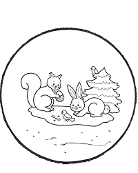 rabbits winter coloring pages winter coloring pages of