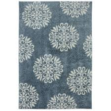 Mohawk Outdoor Rug Mohawk Home Exploded Medallions Blue Woven 8 Ft X 10 Ft Area Rug