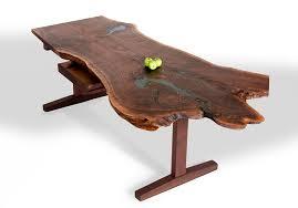 live edge slab desk custom wood desk david stine woodworking