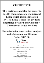Commercial Lease Sample Dorn And Company Services