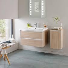 Hudson Reed Erin Light Oak Vanity Unit Mm - Bathroom cabinet lights 2