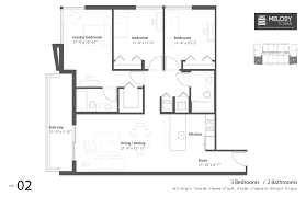 brickell on the river floor plans melody tower