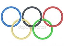 olympic rings color images Vector image olympic rings from colored brush stock vector jpg