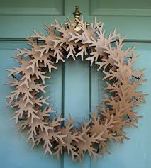 giant snowflake cardboard wreath wreaths laser cutting and garlands