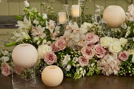 table decorations with candles and flowers everything flowers at