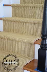 Rug Runner For Stairs Stair Makeover Adding A Natural Looking Runner Stonegable