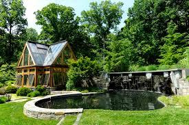 Inside Greenhouse Ideas Oakton Virginia Landscape Design For Greenhouse U0026 Koi Pond