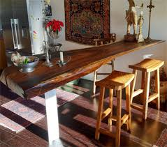 bar top kitchen table bar top table new reclaimed monkeypod wood slab contemporary indoor
