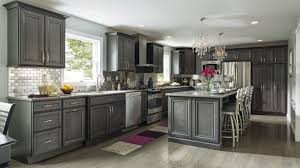 Grey Cabinets In Kitchen by Grey Stained Oak Kitchen Cabinets Outofhome