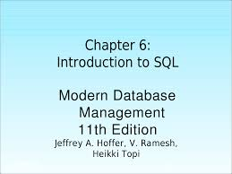 chapter6 chapter 6 1 chapter 6 introduction to sql modern