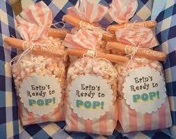 popcorn favors salty sweet delicious ready to pop popcorn baby shower favors