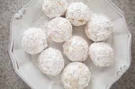 wedding cookies walnut snowball cookies recipe simplyrecipes