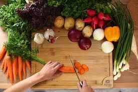 amazon com extra large organic bamboo cutting board with juice