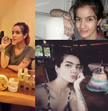 tato keren wanita indonesia foto profil sheila marcia artis cantik indonesia dengan tato keren