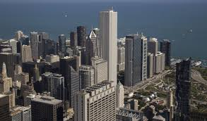 stand over chicago and look down 103 floors from the willis