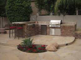 Backyard Brick Patio Design With Grill Station Seating Wall And by Best 25 Outdoor Barbeque Area Ideas On Pinterest Outdoor