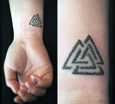 63 most wonderful valknut tattoo designs and ideas about triangle