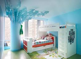 orange and blue bedroom interior architecture orange pops in a pastel blue bedroom