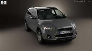 black mitsubishi asx 360 view of mitsubishi asx rvr 2013 3d model hum3d store
