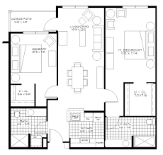Garage Apt Plans Floor Plan For 2 Bedroom 2 Bathroom Retirement Independent Living