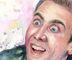 Nicolas Cage Face Meme - nicolas cage meme you don t say watercolor painting art