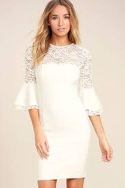 white lace dress chic white dress lace dress bodycon dress 59 00