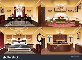 vector illustration rooms inside house similar stock vector