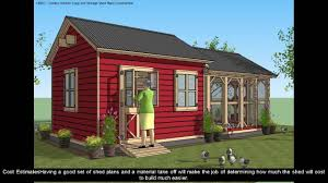 16x20 cabin floor plans shed plans 16x20 youtube