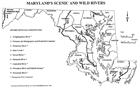 Maryland rivers images Scenic and wild rivers map gif