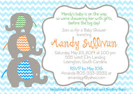 Shrimant Invitation Card Baby Shower Invitation Elephant Stackable Baby Elephant Chevron