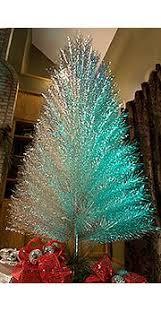 blue green 7 1 2 ft aluminum tree blue green