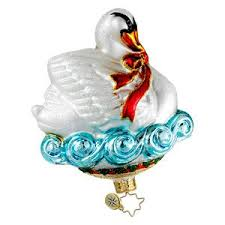 christopher radko swans a swimming gem ornament swans