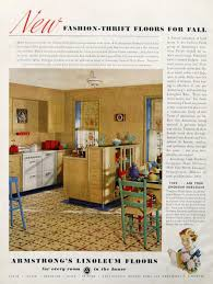 vintage home interior products 1936 armstrong floor ads fashion thrift linoleum floors retro
