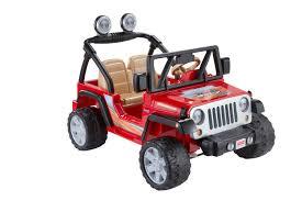 fisher price power wheels jeep wrangler lava red u0026 black