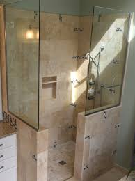 Open Shower Bathroom Design by Bathroom Awesome Remodeling Custom Doorless Shower Designs With
