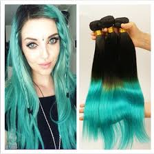 teal hair extensions cheap 1b teal ombre human hair extensions silky