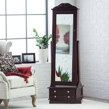 Distressed Jewelry Armoire Bedroom Wonderful Dark Brown Wood Jewelry Armoire Box With 2