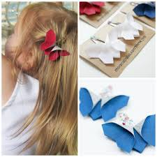 butterfly hair clip 4th of july origami butterfly hair clip gift set dill