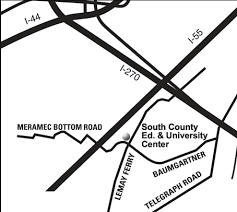 meramec community map south county education and center st louis