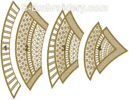 Christmas Tree Translucent Window Decorations by Christmas Machine Embroidery Designs 10451 Free Standing Lace