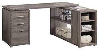 Distressed Office Desk L Shaped Corner Office Desk With Storage In
